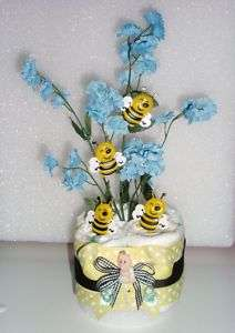 BUMBLE BEE BABY DIAPER CAKES SHOWER MINIS CENTERPIECES