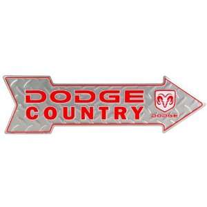 Dodge Country Arrow Metal Sign