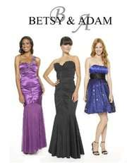 Betsy & Adam Dress, Sleeveless Ruched Jeweled Empire Waist Evening