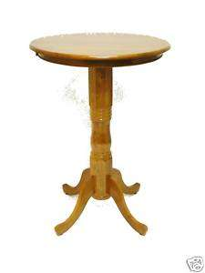 Round Pedestal Pub Bar Table   30x42 Tall   2 Colors
