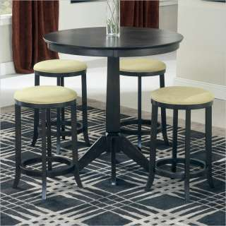 Hillsdale Tiburon 5 Piece Pub Table Set in Espresso [154985]