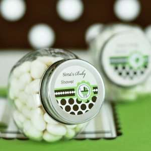 Baby Green Personalized CandyJar Favors Health & Personal