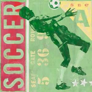 Oopsy daisy Game Ticket Soccer Wall Art 14x14