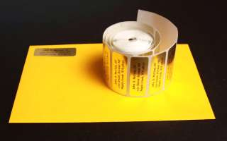 300 Personalized Gold Foil address labels on a roll