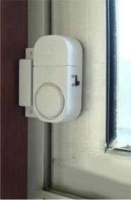 WIRELESS Door Window Security ALARM System EASY to install FREE