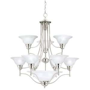 Thomas Lighting M212878 1 Cirrus Chandelier, Brushed