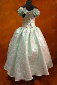 NEW PAGEANT FLOWER GIRL HOLIDAY PRINCESS DRESS 3970 AQUAMARINE LIGHT