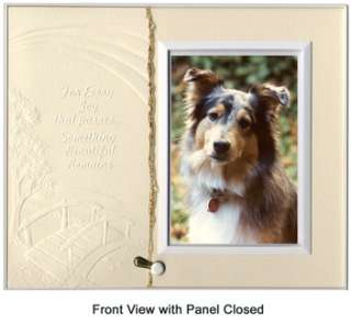 Tomorrow Poem Frame Pet Loss Sympathy Gift Warm White with Foil