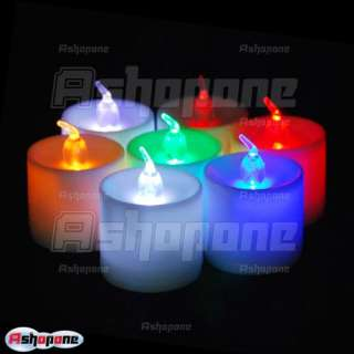 Color LED Changing Flash Candle Light Flicker Electronic Flameless