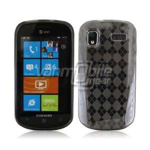 SMOKED ARGYLE TPU DESIGN CASE + LCD SCREEN PROTECTOR + CAR CHARGER for