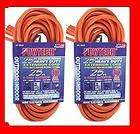 Two 25 Foot Outlet Electrical Extension Power Cord