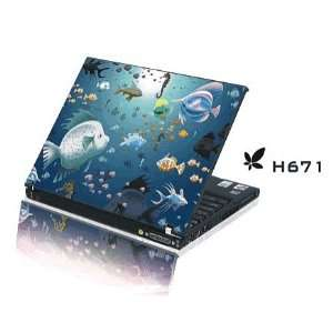 15.4 Laptop Notebook Skins Sticker Cover H671 Reef Fish Skin