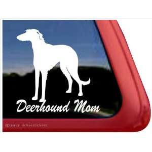 Deerhound Mom ~ Scottish Deerhound Vinyl Window Auto Decal