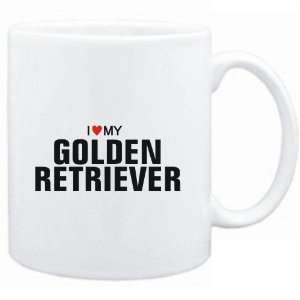 Mug White  I love my Golden Retriever  Dogs Sports