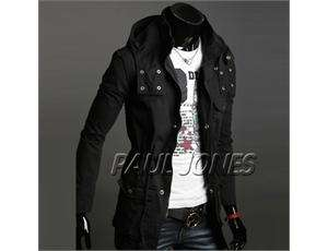 PJ Men's Stylish Slim Fit Jackets Coats Hoody Size XS~L CL1437