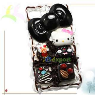 3D Cute Hello Kitty Chocolate Cake Case For iPhone 4 4G