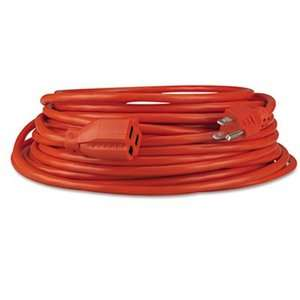 Indoor/Outdoor Heavy Duty Extension Cord, 25 Feet, Orange Electrical