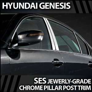 2009 2012 Hyundai Genesis 6pc. SES Chrome Pillar Trim
