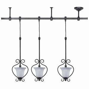 NEW 3 LIGHTS TRACK PENDANT LIGHTING OIL RUBBED BRONZE