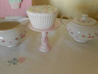 cottage Chic Pink Ashwell rose wood cupcake stand simply sweet