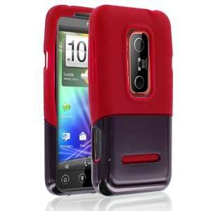 Rapture Slice 42 0130014r Black/Red Silicone Skin Case for HTC EVO 3d