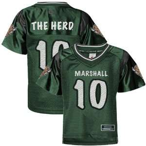 Marshall Thundering Herd #10 Toddler Green Rivalry Football Jersey