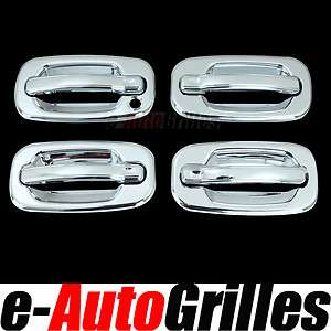 00 06 GMC Sierra Yukon+XL Chrome 4DR Door Handle Cover