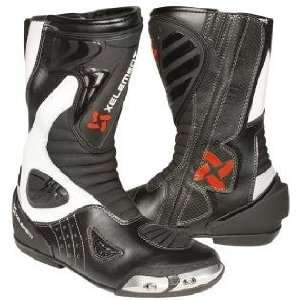 Xelement XM S15 Black and White Leather Mens Racing Boot
