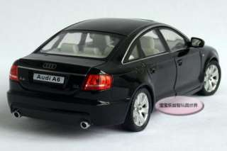 New AUDI A6 124 Alloy Diecast Model Car With Box Black B094