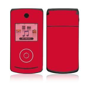 LG Chocolate 3 (VX8560) Skin Decal Sticker   Simply Red
