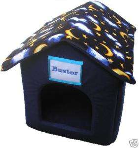 Personalised Blue Small Dog/Puppy,Cat,Rabbit House Bed