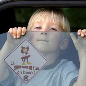 NCAA South Carolina Gamecocks Lil Fan On Board Car Sign