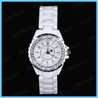 New SINOBI Fashion Crystal Women Girl Wrist Watch White