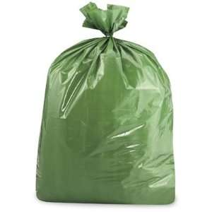 33 x 39 33 Gallon 1.5 Mil Green Trash Liners