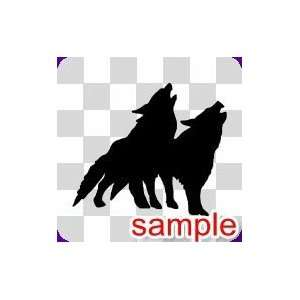 ANIMAL TWO WOLVES WHITE VINYL DECAL STICKER Everything