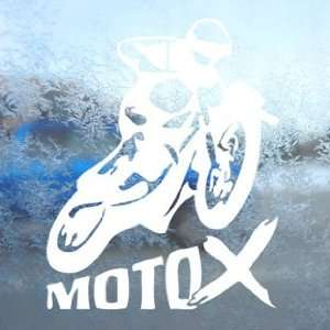 X GAMES MOTO X White Decal Car Laptop Window Vinyl White