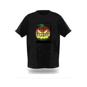 Sound Activated Flashing LED Equalizer T Shirt T Qualizer