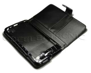 New Black PU Alligator Design Wallet case holster for Samsung i9220