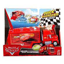 Cars 2 New Feature Vehicle   Deluxe Mack Transporter   Mattel   Toys