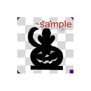 RANDOM CAT AND PUMPKIN 12.5 WHITE VINYL DECAL STICKER
