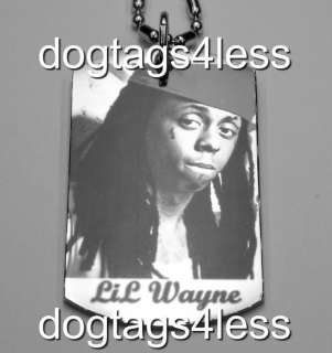 LIL WAYNE Dog Tag HIP HOP DogTag Necklace FREE Chain 8