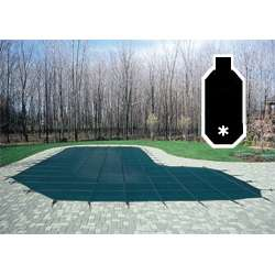 18.5x36.5 GREEN MESH GRECIAN Pool Safety Cover w/CES