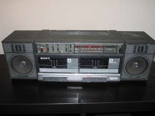 Stereo Boombox Ghettoblaster AM FM Radio Tape Player JAPAN VTG
