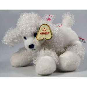 Plush Pet Animal Poodle Puppy Dog with Bow Gift NEW