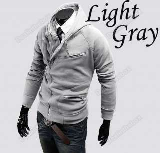 New Stylish Slim Fit Mens Zipper Top Design Slim Hoodies Jacket