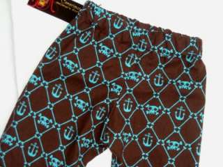 New Pirate Anchor Blue Brown Skull Toddler Kid baby bottoms boy pants