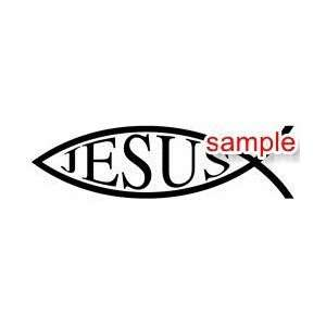 CHRISTIAN FISH JESUS WHITE VINYL DECAL STICKER Everything