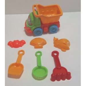Beach Toys Set 7 Piece Including Dump Truck Toys & Games