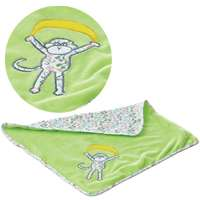 14.5 Lime Monkey Jungle Baby Blanket by Aurora NEW 092943206366