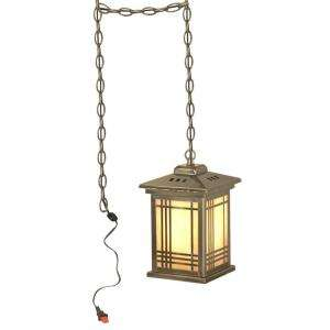 Lighting Tiffany Avery Lantern with Swag 1 Light Hanging Antique